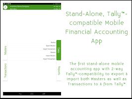 Screenshot of mAccounts Mobile Accounting