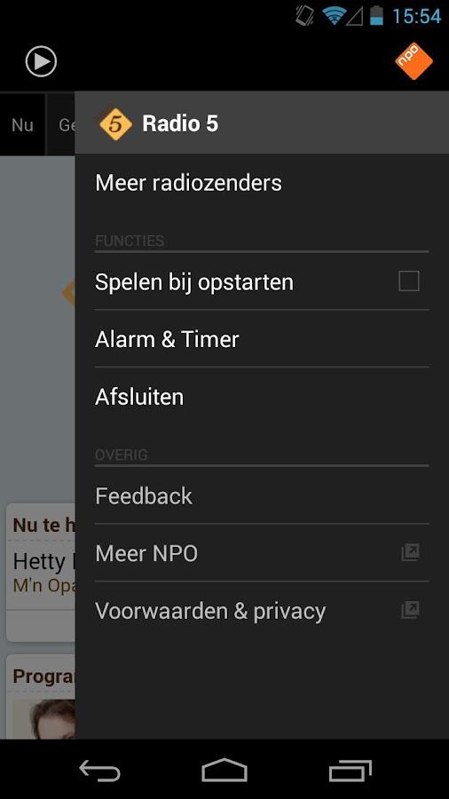 NPO Radio 5 - screenshot