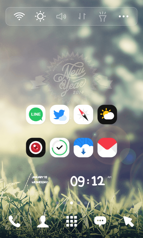 New Year 2014 dodol theme - screenshot