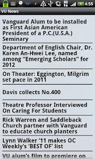 Vanguard University - screenshot thumbnail