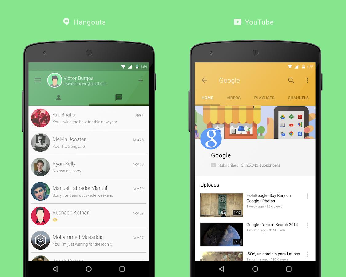 Google themes app - Vi Material Design Theme Screenshot
