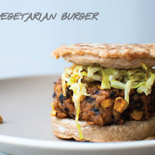 The Black Bean + Corn + Farro Vegetarian Burger