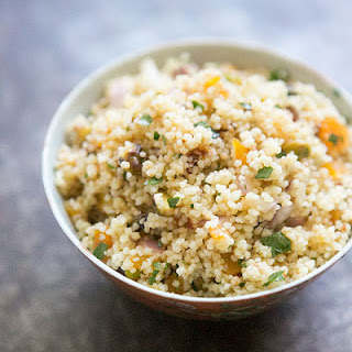 Couscous with Pistachios and Apricots.