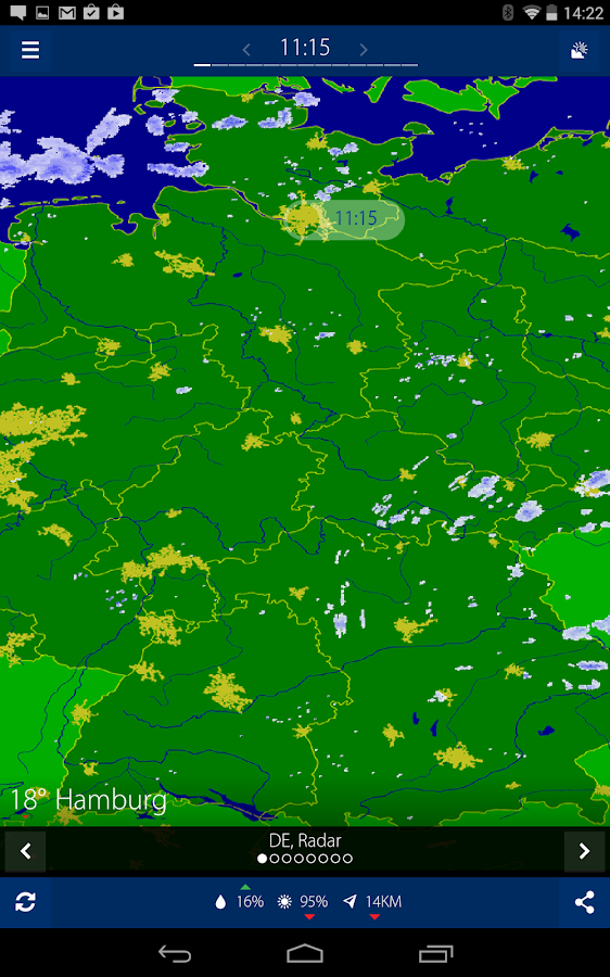 Realtime rainradar Europe- screenshot