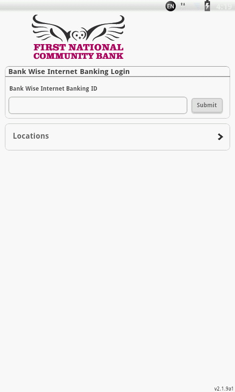 First National Community Bank - screenshot