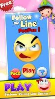 Screenshot of Follow The Line Pou Pou