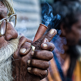 Sadhu by Soumyadip Maity - People Portraits of Men ( monk, god, india, ganja, bengal, sadhu,  )