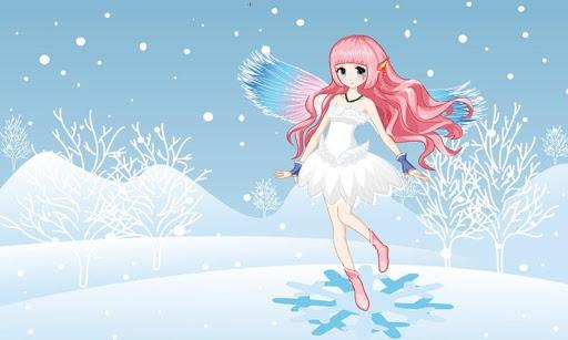 아름다운 겨울 눈 요정