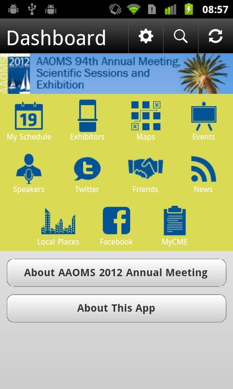 AAOMS 2012 Annual Meeting - screenshot