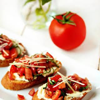 Roasted Garlic & Tomato Bruschetta.