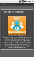 Screenshot of İEÜ Telefon Rehberi