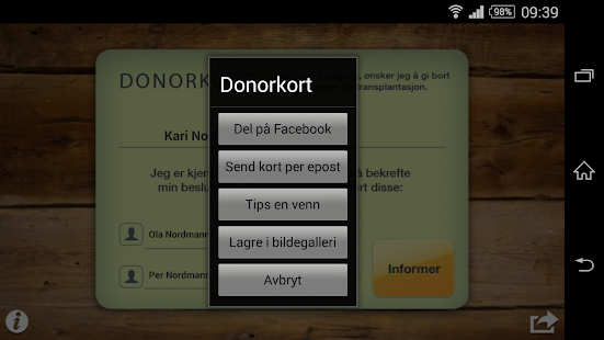 Donorkort - screenshot thumbnail