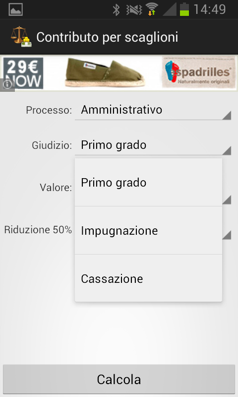 Contributo Unificato- screenshot