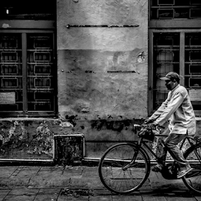 Old Bike by Erry Subhan - People Street & Candids ( indonesia, asia, jakarta, tourism, transportation, travel, capitol city, bicycle )