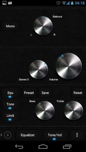 Skin for Poweramp Dark Leather  screenshots 5