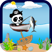 Lets Gone Fishing Panda Pirate