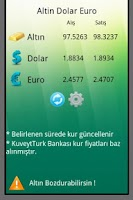 Screenshot of Altın Dolar Euro