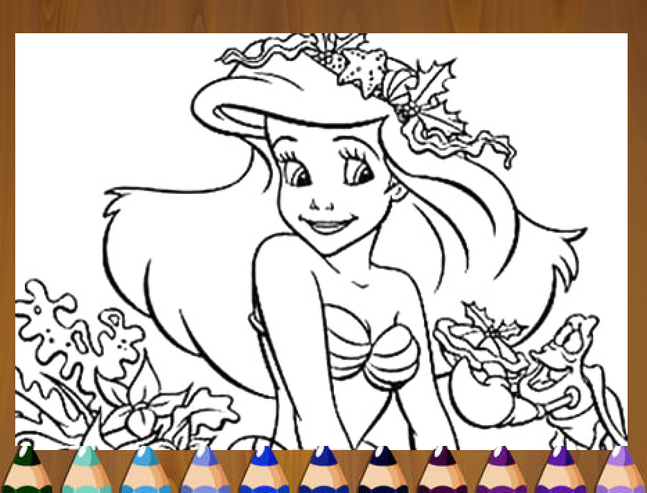 Princess  Mermaid Coloring - screenshot