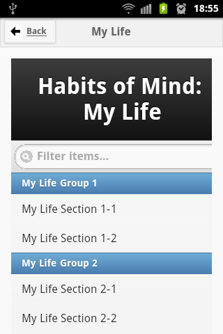 Habits of Mind at BC - screenshot