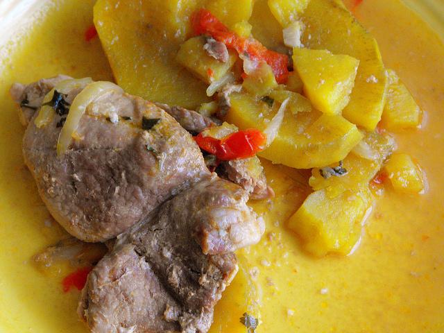 Steaks in Saucepan with Sweet Potato Recipe