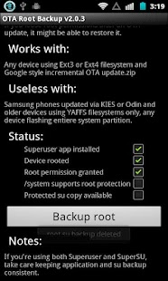 OTA Root Backup - screenshot thumbnail