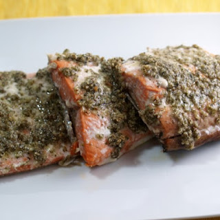 Mediterranean Crusted Salmon.