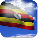 3D Uganda Flag + icon