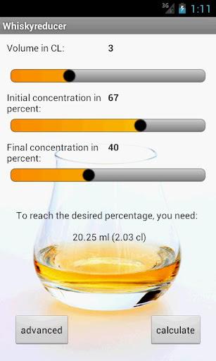 Whisky reducer