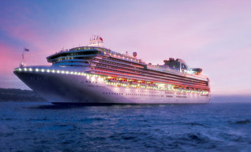 Sapphire-Princess-at-dusk - Sapphire Princess is always buzzing with fun at dusk, from live performances to Movies Under the Stars to upbeat dance clubs and glitzy casinos.