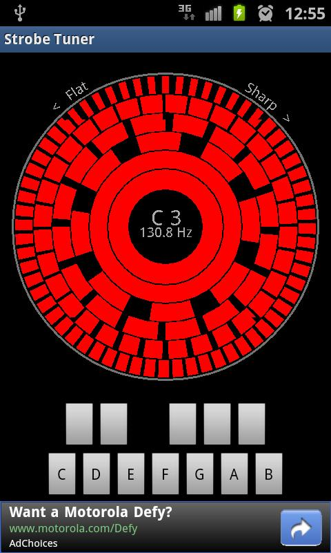 Stroboscopic Tuner- screenshot