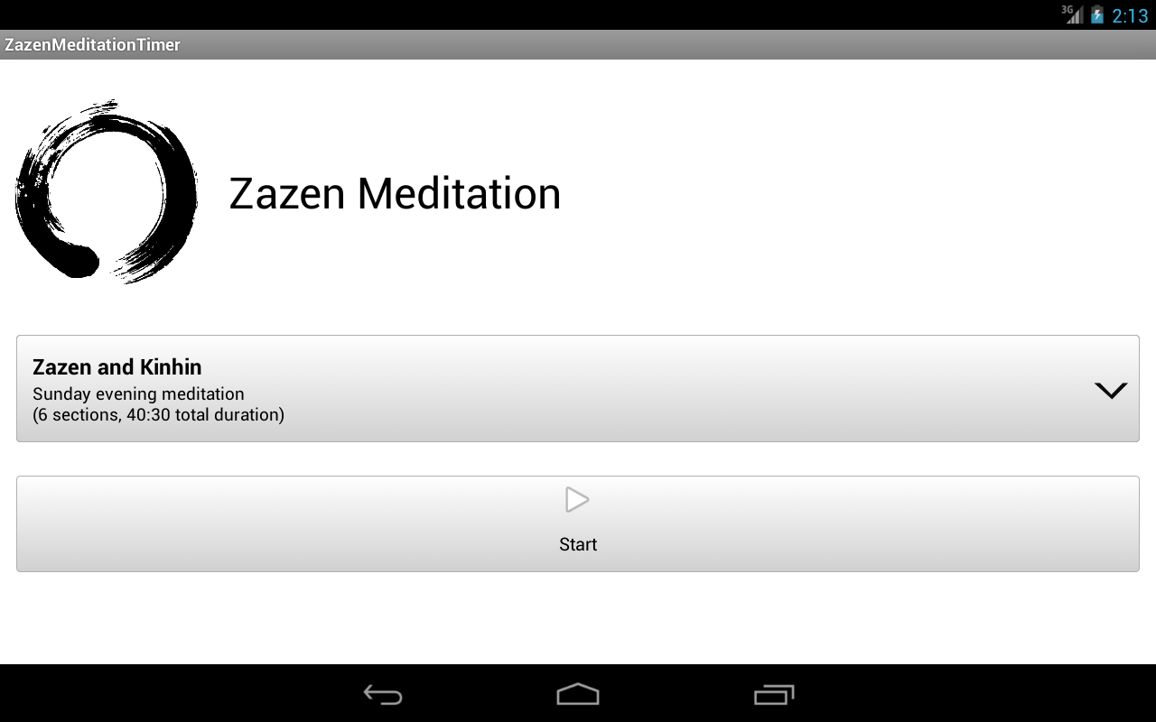 Zazen Meditation Timer- screenshot