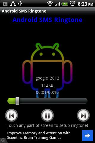 Android SMS tono - screenshot