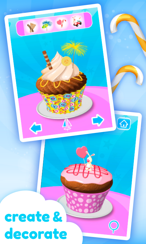 Cupcake Kids - Cooking Game- screenshot