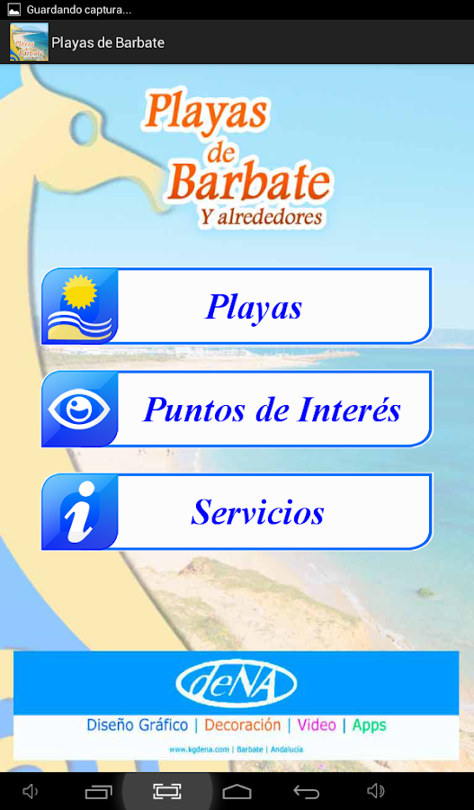 Playas de Barbate: captura de pantalla