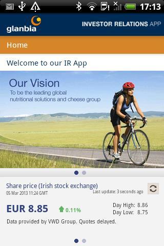 Glanbia Investor Relations