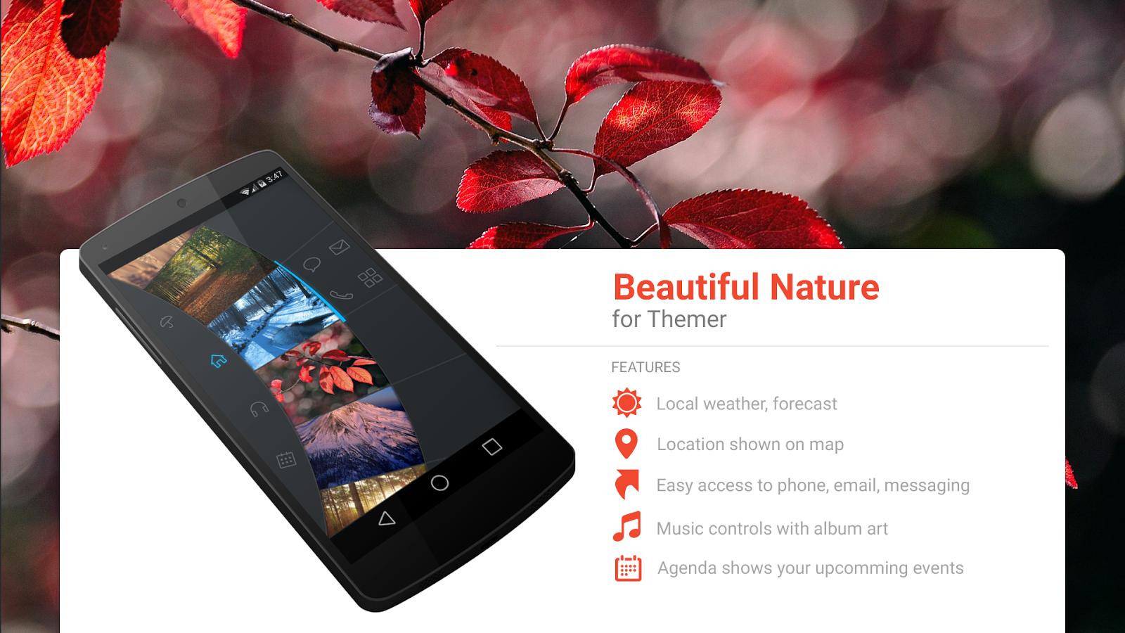 Beautiful themes for gmail - Beautiful Nature Theme Screenshot