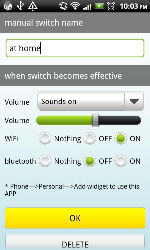 Auto SwitchLite(Wifi,BT,Sound)- screenshot