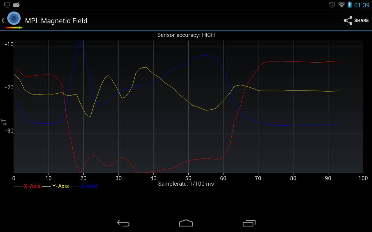 Sensor Readout - screenshot