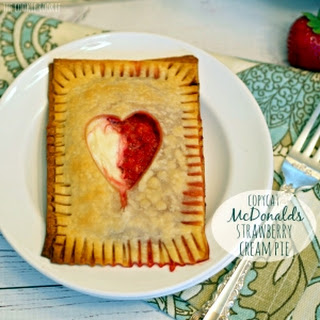 Copycat McDonalds Strawberry Cream Pie