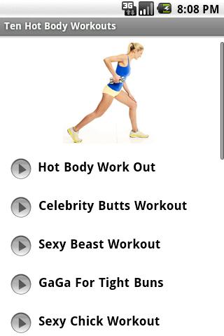 Hot Body Workouts - screenshot