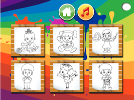Screenshot of Baby Pages Coloring Games
