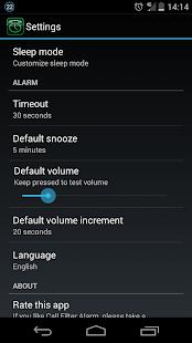 Call Filter Alarm - screenshot thumbnail
