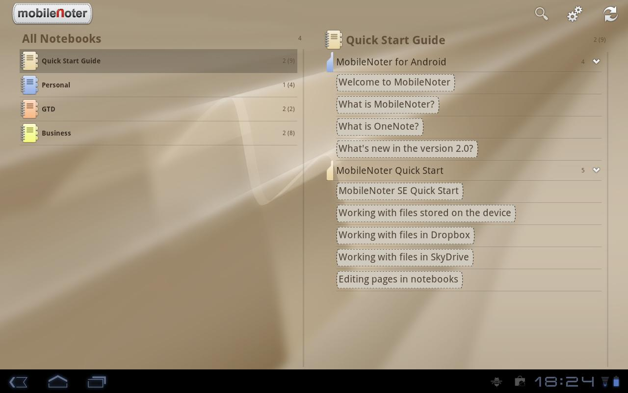 MobileNoter SE HD for Tablet - screenshot