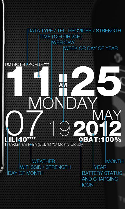 wp clock design live wallpaper - screenshot