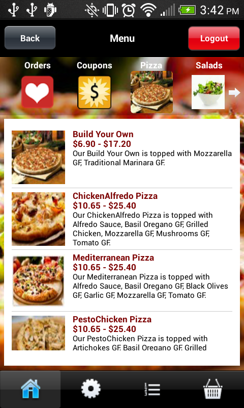 Top Class Pizza- screenshot
