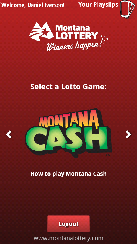 Montana Lottery e-Playslip- screenshot