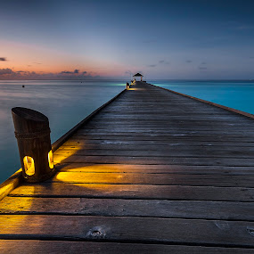Path of Love by Paulo Penicheiro - Landscapes Sunsets & Sunrises ( sunset, tropical, romantic, hot, maldives )