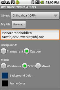 Raw Object Viewer- screenshot thumbnail