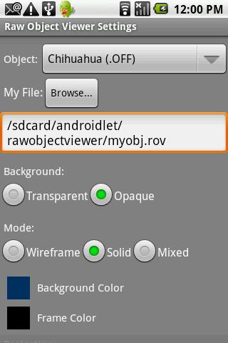 Raw Object Viewer- screenshot