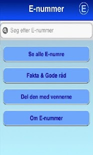 E nummer & Fødevare Guide - screenshot thumbnail